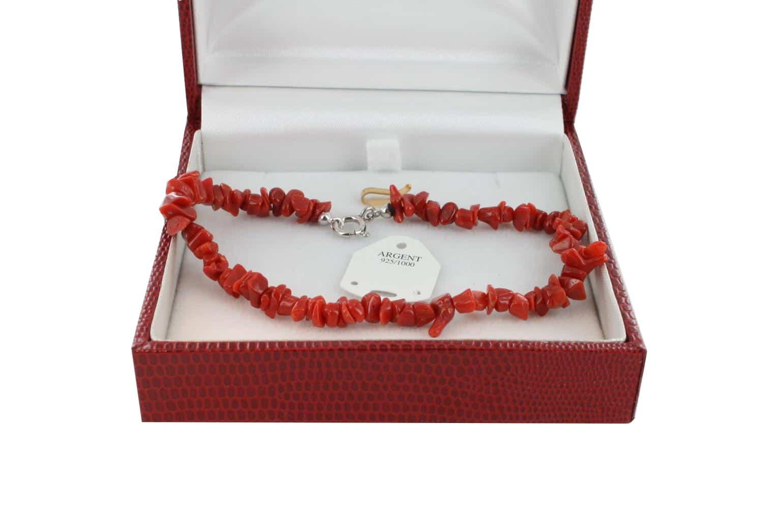 Bracelet en Corail véritable de méditerranée et argent 725 BR-CO-AR-1163