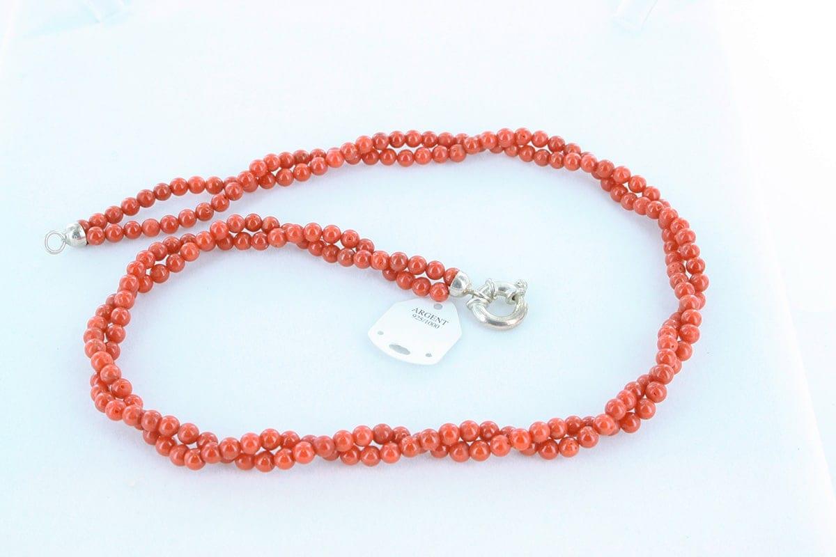 Collier en corail rouge véritable de Méditerranée 033
