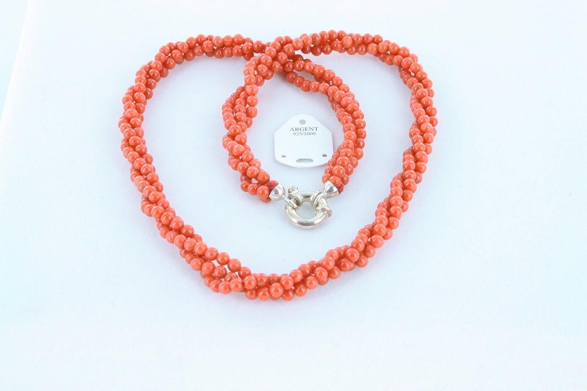 Collier en corail rouge véritable de Méditerranée 036