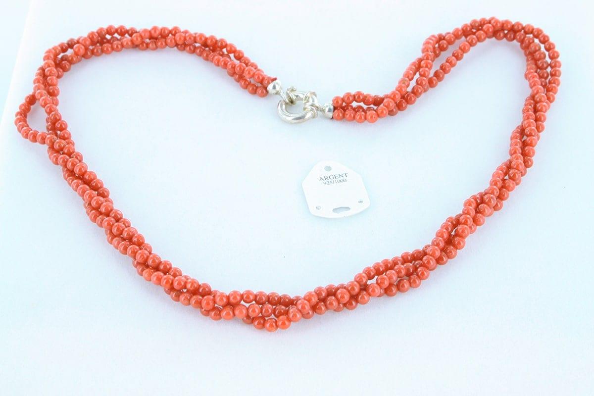 Collier en corail rouge véritable de Méditerranée 037