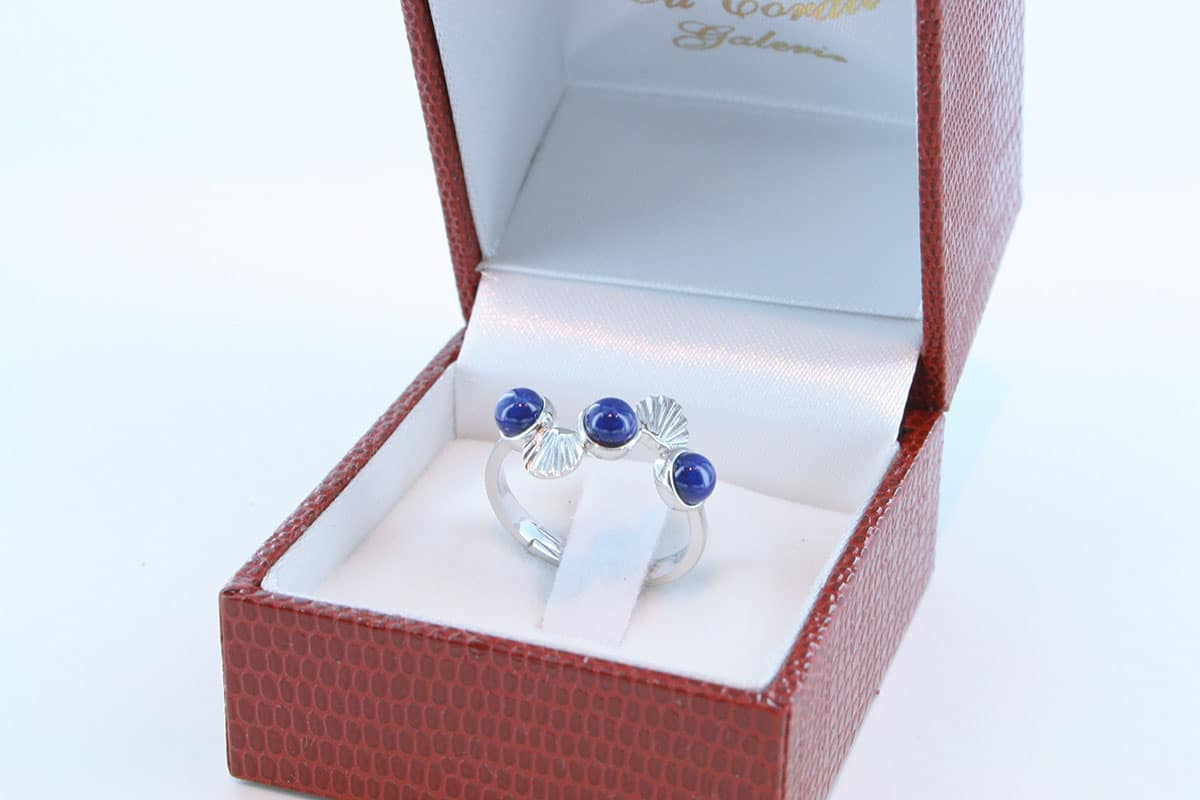 Bague en Lapis Lazuli et argent 925 par 1000 BA-LA-LA-AR-003