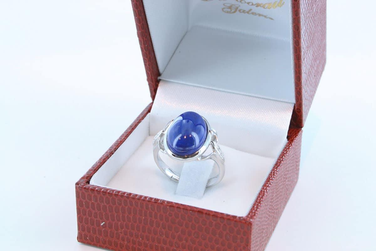 Bague en Lapis Lazuli et argent 925 par 1000 BA-LA-LA-AR-005