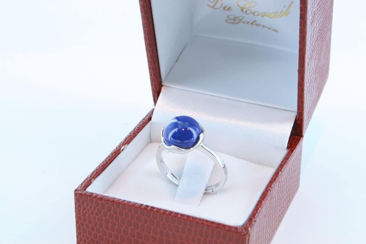 Bague en Lapis Lazuli et argent 925 par 1000 BA-LA-LA-AR-007
