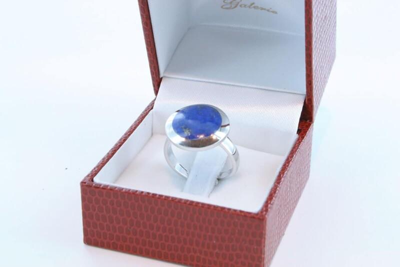 Bague en Lapis Lazuli et argent 925 par 1000 BA-LA-LA-AR-011
