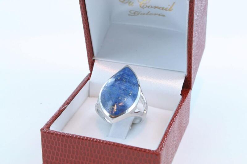 Bague en Lapis Lazuli et argent 925 par 1000 BA-LA-LA-AR-012