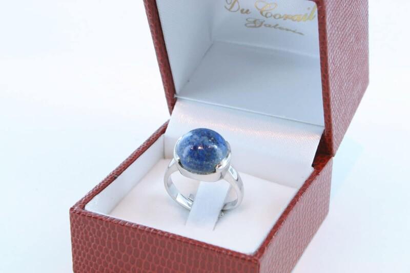 Bague en Lapis Lazuli et argent 925 par 1000 BA-LA-LA-AR-013
