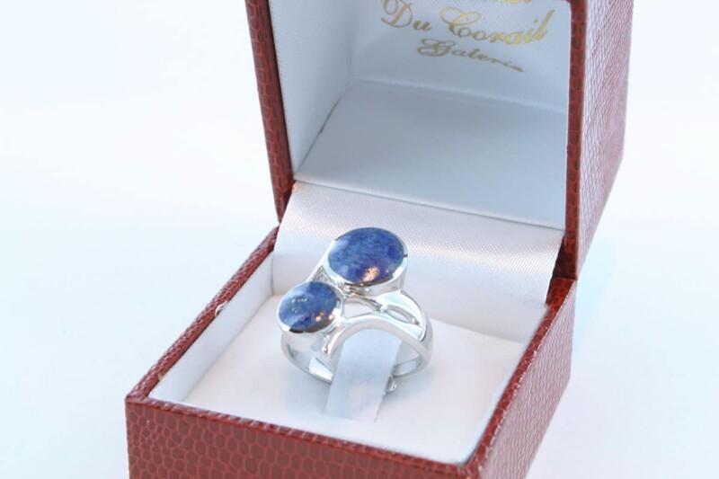 Bague en Lapis Lazuli et argent 925 par 1000 BA-LA-LA-AR-014
