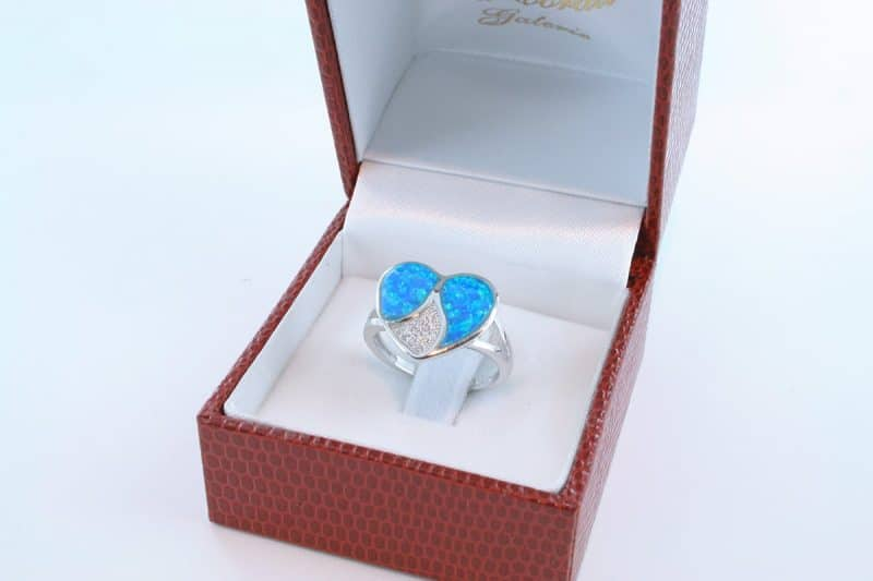 bague opale bleu et argent 925 par 1000 003