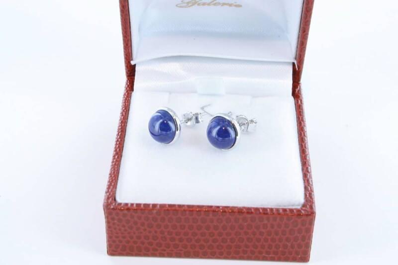 boucles d oreilles en lapis lazuli et argent 925 par 1000 BO-LA-LA-AR-002