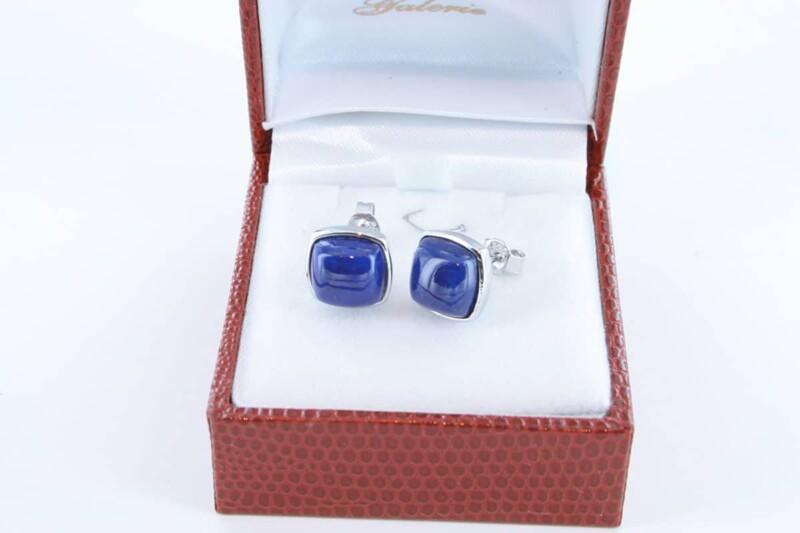 boucles d oreilles en lapis lazuli et argent 925 par 1000 BO-LA-LA-AR-003