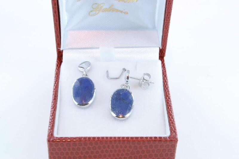 boucles d oreilles en lapis lazuli et argent 925 par 1000 BO-LA-LA-AR-004
