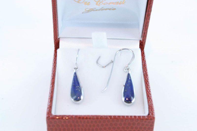 boucles d oreilles en lapis lazuli et argent 925 par 1000 BO-LA-LA-AR-014