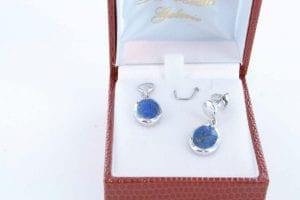 boucles d oreilles en lapis lazuli et argent 925 par 1000 BO-LA-LA-AR-017