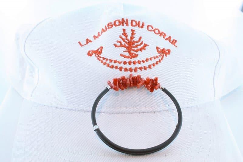 Bracelet corail rouge et argent BR CO AR 1191