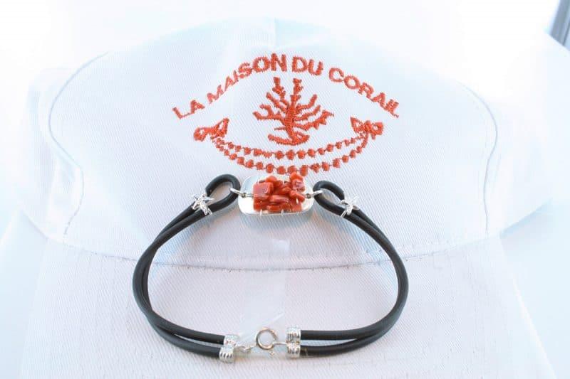 Bracelet corail rouge et argent BR CO AR 1200