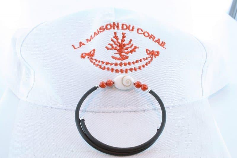 Bracelet corail rouge et argent BR CO AR 1202
