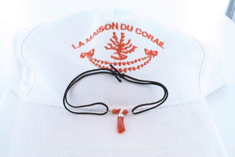 Bracelet corail rouge et argent BR CO AR 1203