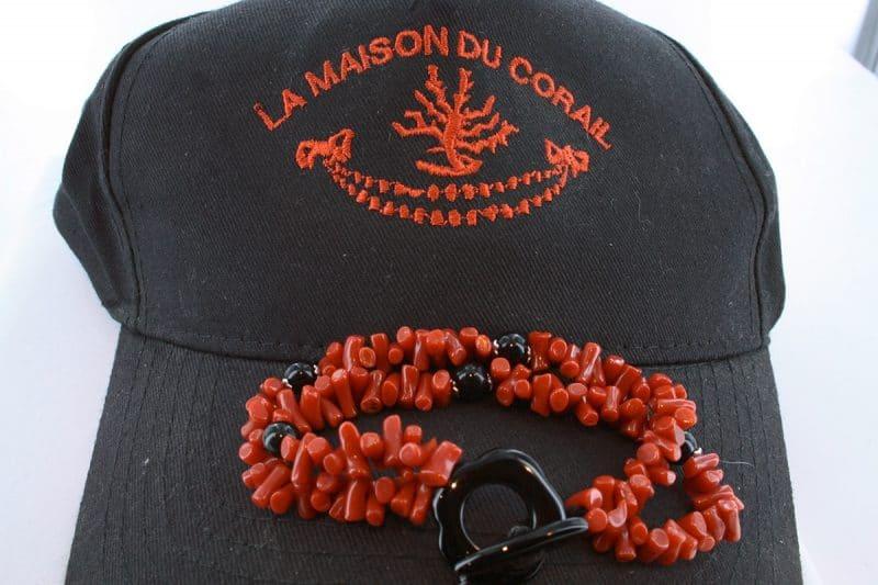 Bracelet corail rouge et argent BR CO AR 1210