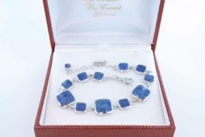 Bracelet en lapis lazuli et argent 925 par 1000 BR-LA-LA-AR-003