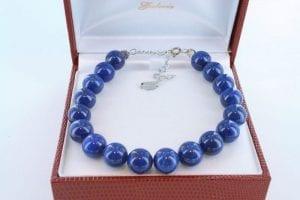 Bracelet en lapis lazuli et argent 925 par 1000 BR-LA-LA-AR-013