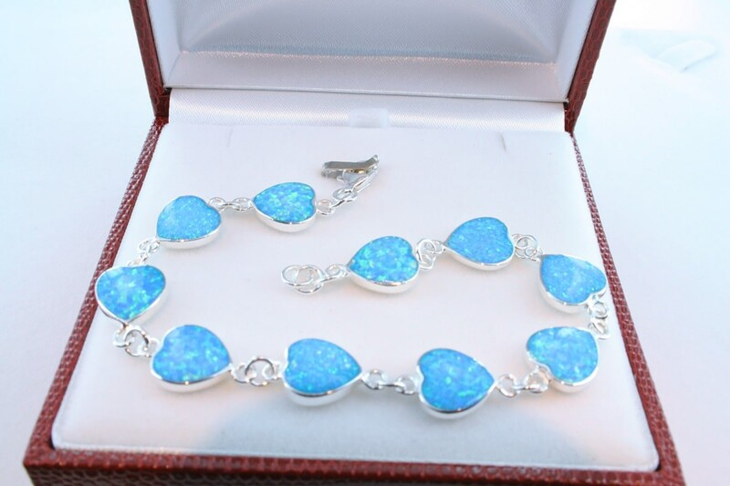 bracelet en opale et argent 925 par 1000 BR-OP-BL-008