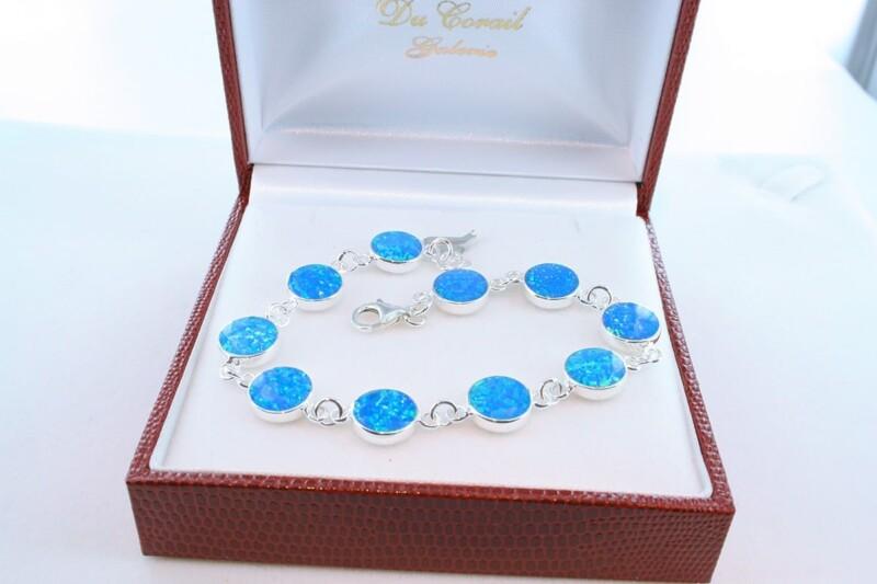 bracelet en opale et argent 925 par 1000 BR-OP-BL-012