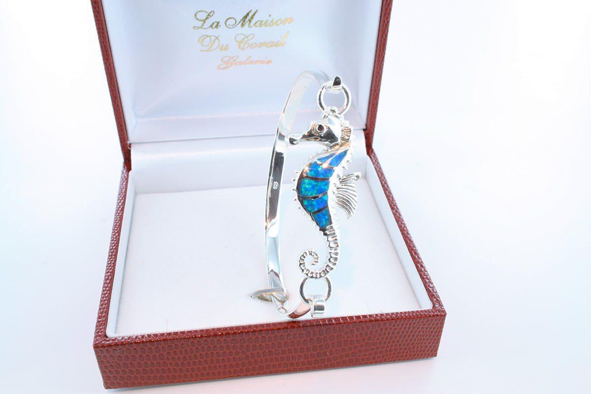 bracelet en opale et argent 925 par 1000 BR-OP-BL-018
