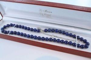 Collier en lapis lazuli et argent 925 par 1000 CO-LA-LA-AR-004