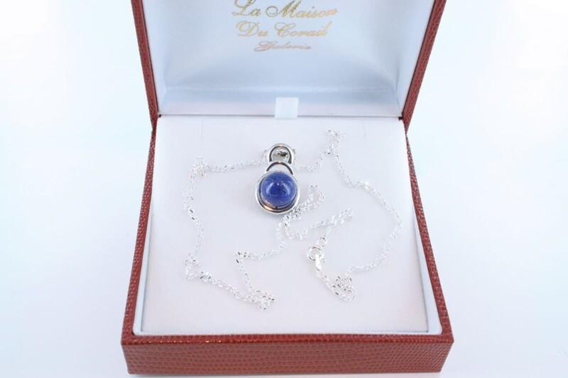 pendentif en lapis lazuli et argent 925 par 1000 PE-LA-LA-AR-006