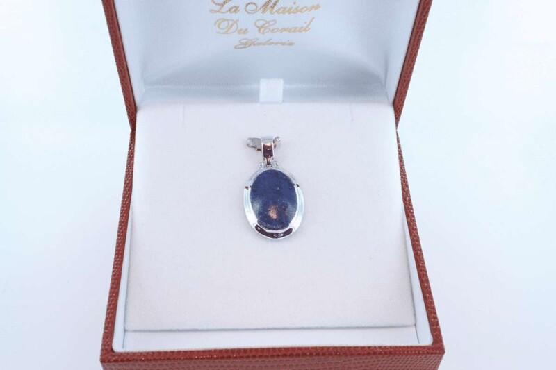 pendentif en lapis lazuli et argent 925 par 1000 PE-LA-LA-AR-019