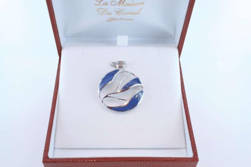 pendentif en lapis lazuli et argent 925 par 1000 PE-LA-LA-AR-020