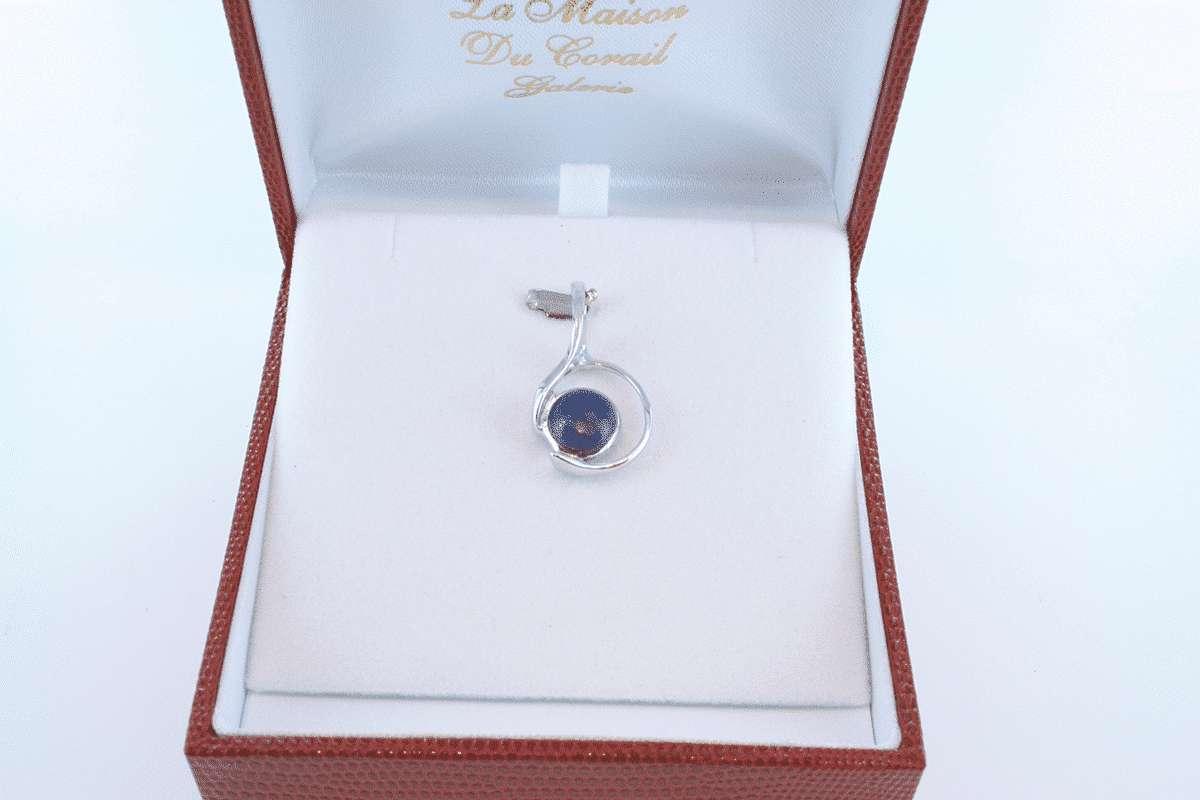 pendentif en lapis lazuli et argent 925 par 1000 PE-LA-LA-AR-021