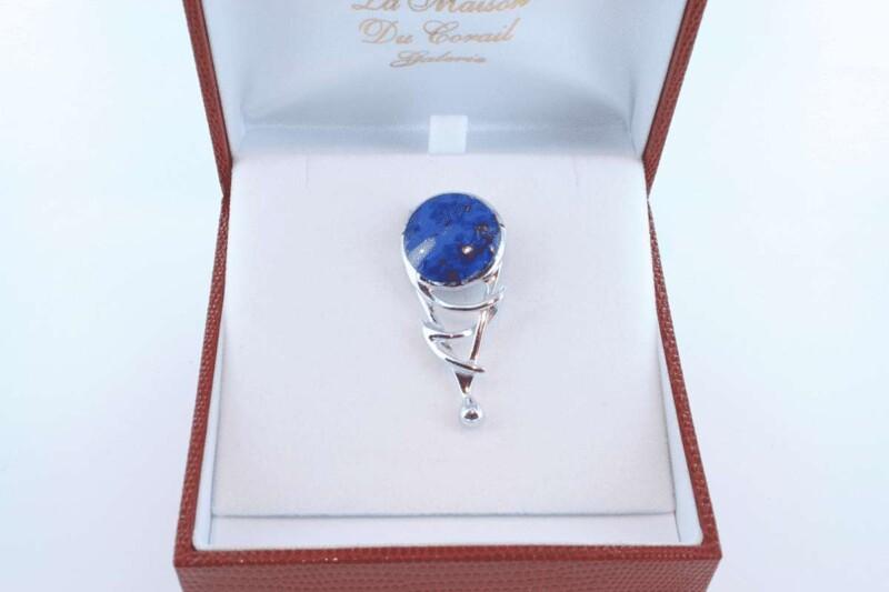 pendentif en lapis lazuli et argent 925 par 1000 PE-LA-LA-AR-022