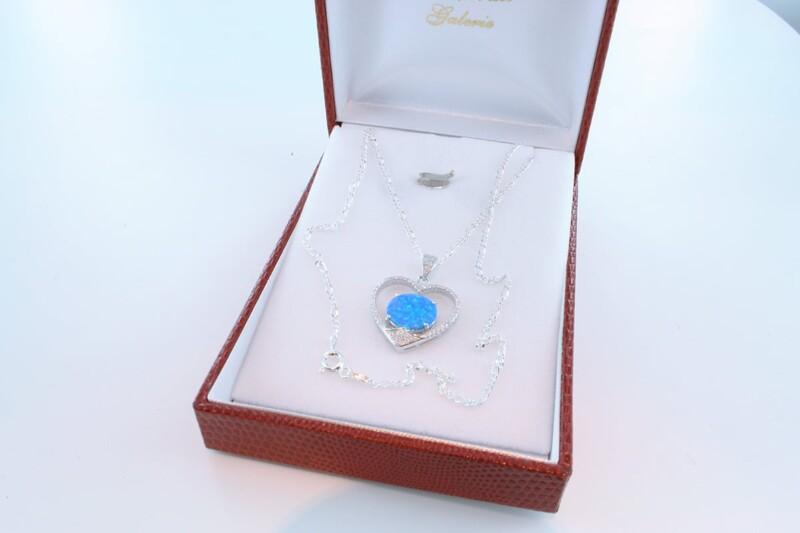 Pendentif en opale et argent 925 par 1000 PE-OP-BL-002