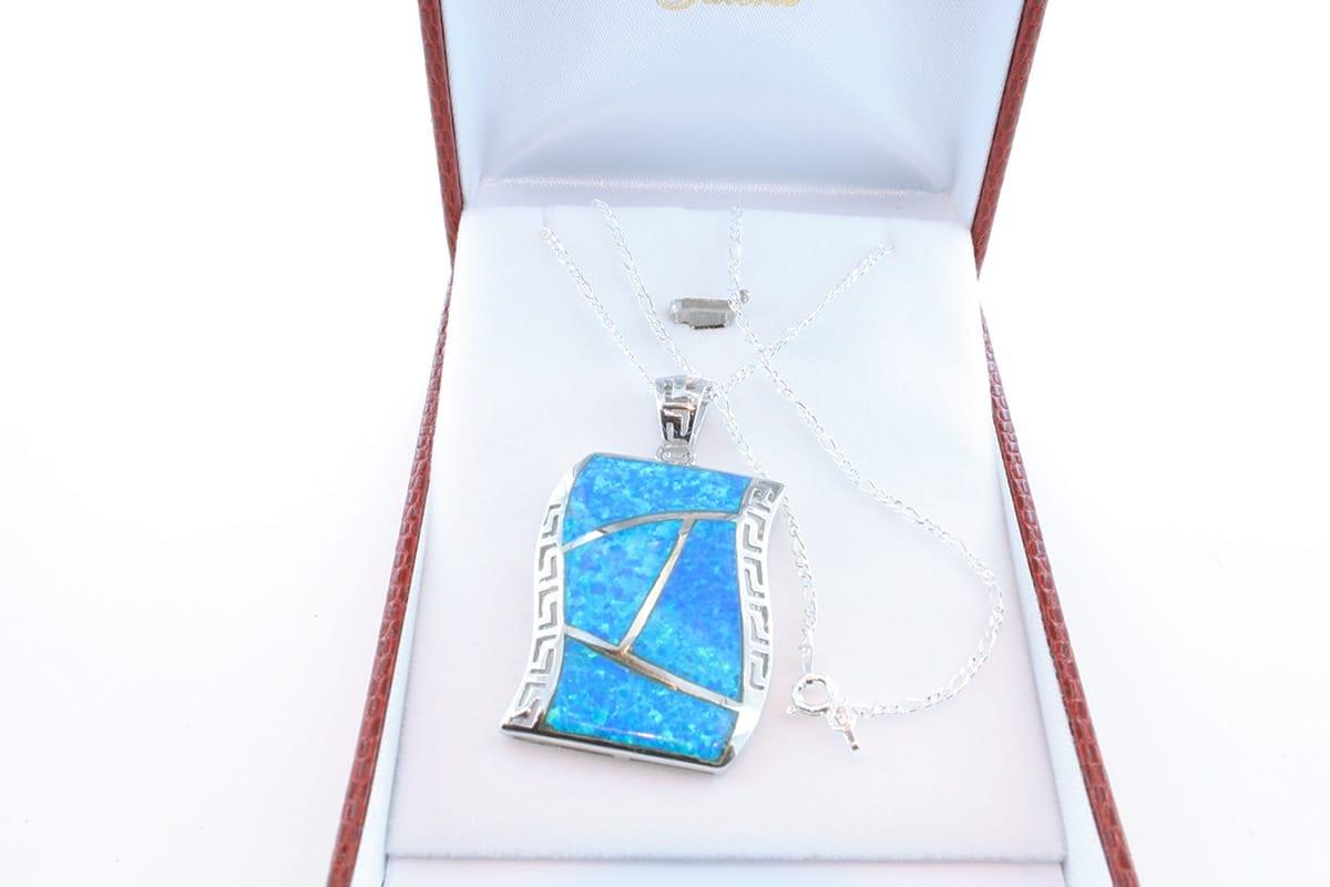 Pendentif en opale et argent 925 par 1000 PE-OP-BL-011