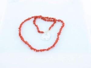 Collier en corail rouge et or 750 par 1000 CO-CO-OR-003
