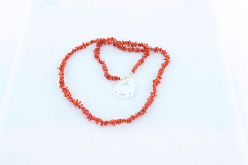 Collier en corail rouge et or 750 par 1000 CO-CO-OR-003