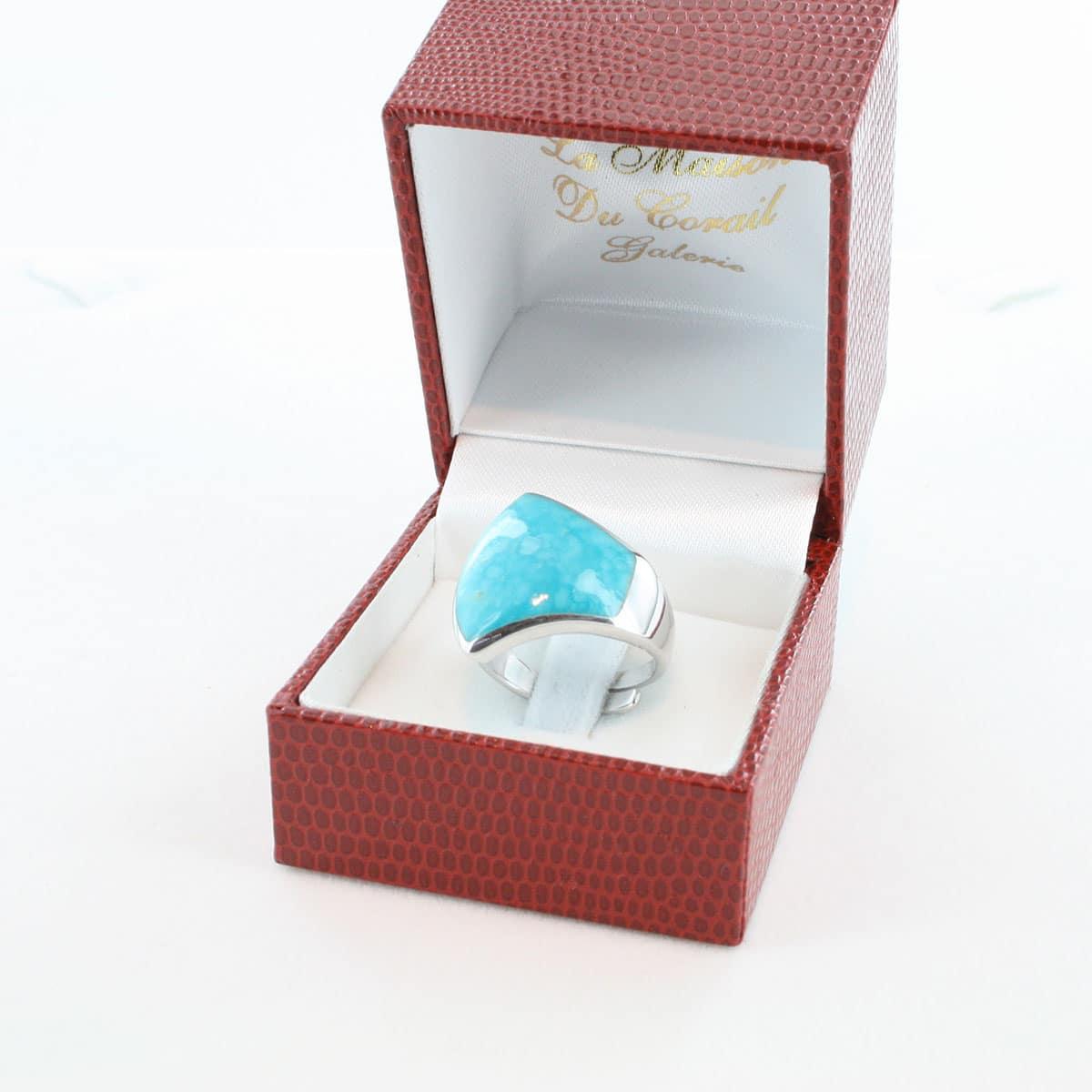 bague en turquoise véritable et argent 925 1000 BA-TU-AR-002