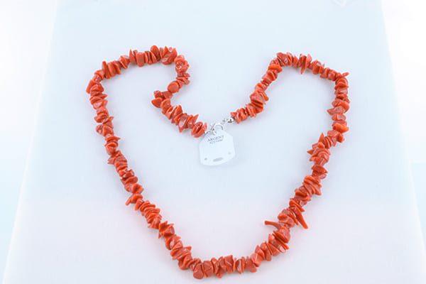 Collier en corail rouge véritable de Méditerranée 001