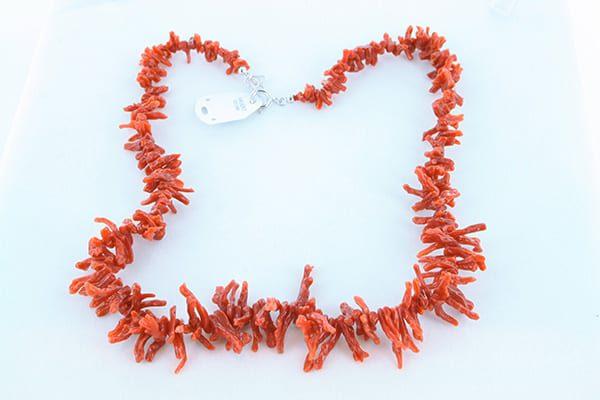 collier en corail rouge véritable de Méditerranée et argent 925 1000 013