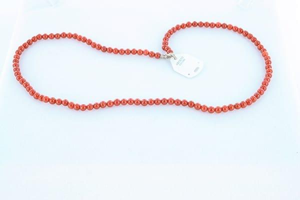 collier en corail rouge véritable de Méditerranée et argent 925 1000 026