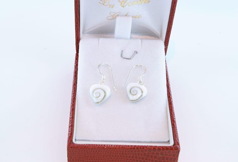Boucles d'oreilles oeil de sainte lucie et argent 002