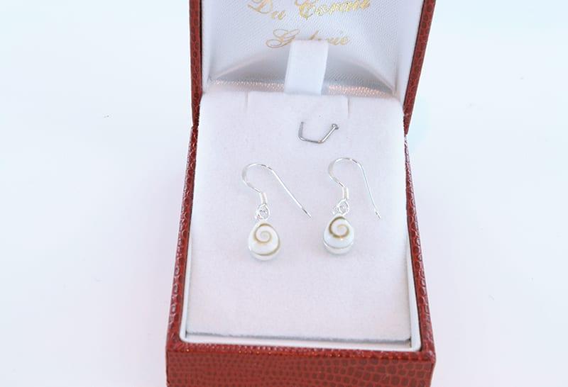 Boucles d'oreilles oeil de sainte lucie et argent 003