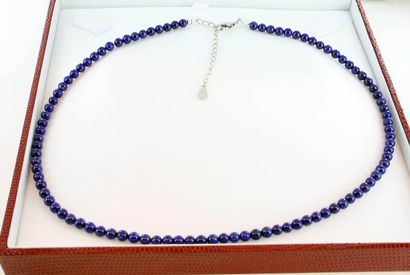 Collier en Lapis Lazuli et Argent Grade A<br> CO-LA-LA-AR-001
