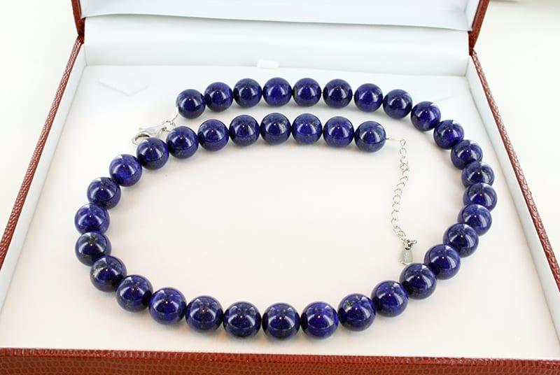 Collier en lapis lazuli et argent grade a CO-LA-LA-AR-004