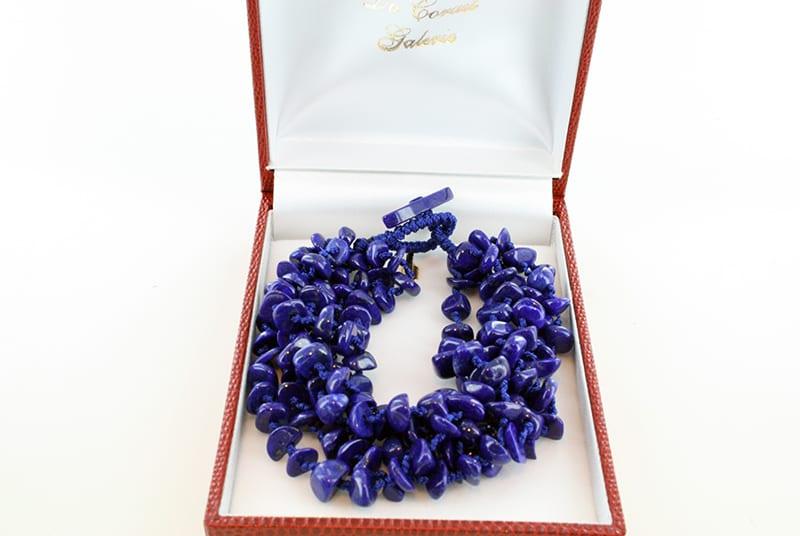 Collier en lapis lazuli et argent de grade A CO-LA-LA-CO-006