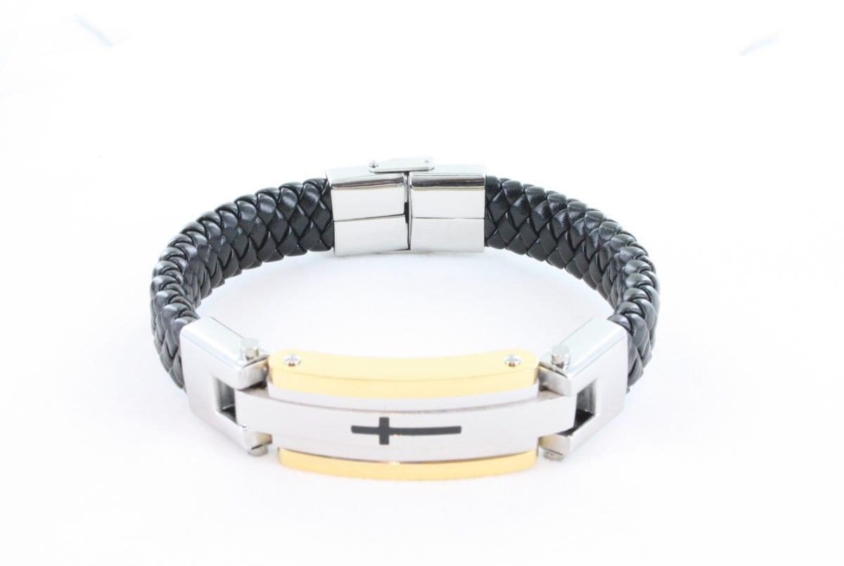 Bracelet en cuir pour homme<br> BR-HO-CU-006