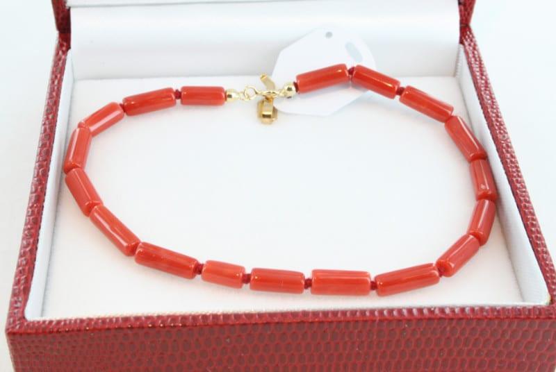 Bracelet en corail de premier choix et or BR-CO-OR-015