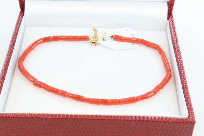 Bracelet en corail de premier choix et or BR-CO-OR-018