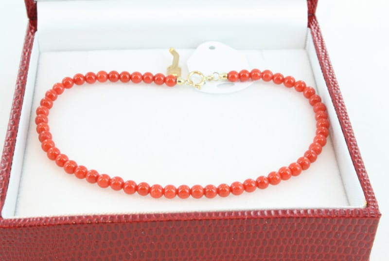 Bracelet en corail de premier choix et or BR-CO-OR-024